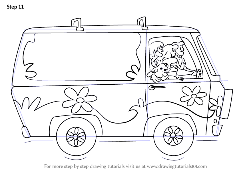 Learn How to Draw The Mystery Machine
