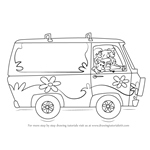 How to Draw The Mystery Machine from Scooby-Doo