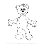 How to Draw Baby Bear from Sesame Street