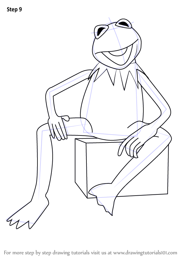 Learn How To Draw Kermit The Frog From Sesame Street