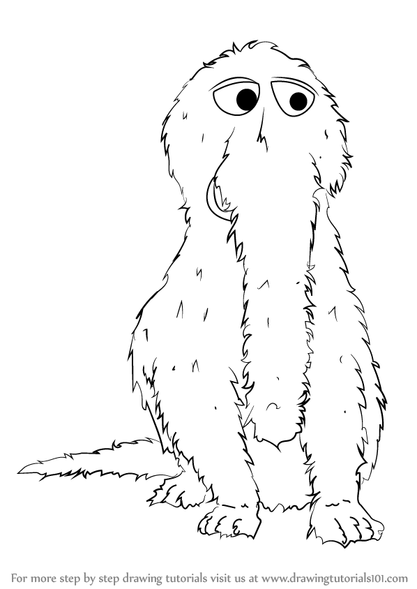 learn how to draw mr snuffleupagus from sesame street