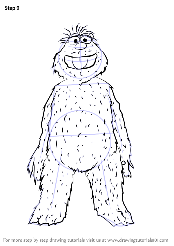 Learn How To Draw Murray Monster From Sesame Street