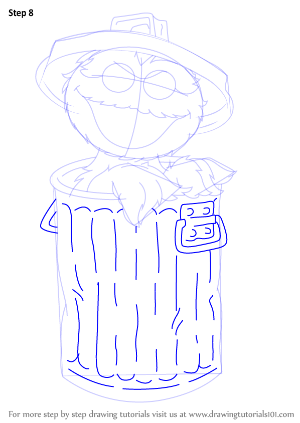 Learn How To Draw Oscar The Grouch From Sesame Street