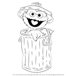 How to Draw Oscar the Grouch from Sesame Street