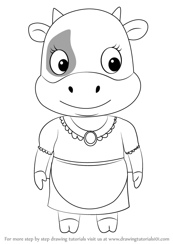 Learn how to draw ella from sheriff callie 39 s wild west for Ella coloring pages