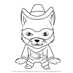 How to Draw Milk Bandit from Sheriff Callie's Wild West