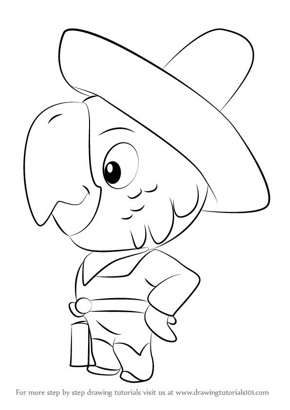 Learn How to Draw Parroting Pedro from Sheriff Callies Wild West