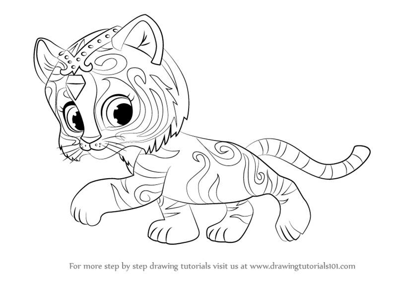 learn how to draw nahal from shimmer and shine shimmer and shine