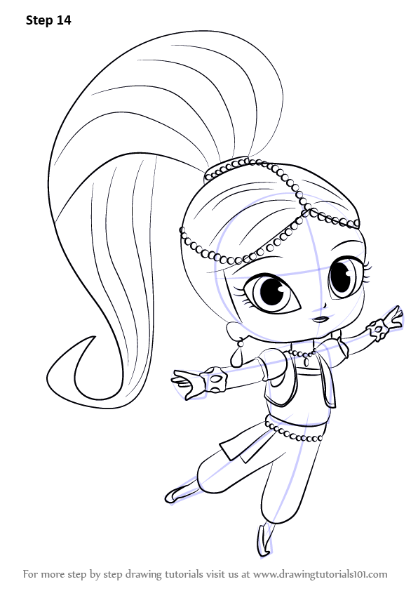 Learn How To Draw Shimmer From Shimmer And Shine Shimmer And Shine Step By Step Drawing