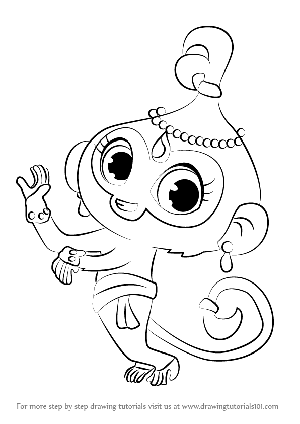 Monkey Coloring Pages Shimmer And