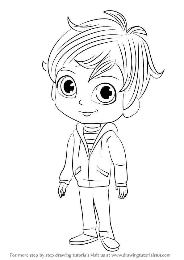 Learn How To Draw Zac From Shimmer And Shine Shimmer And Shine Step By Step Drawing Tutorials