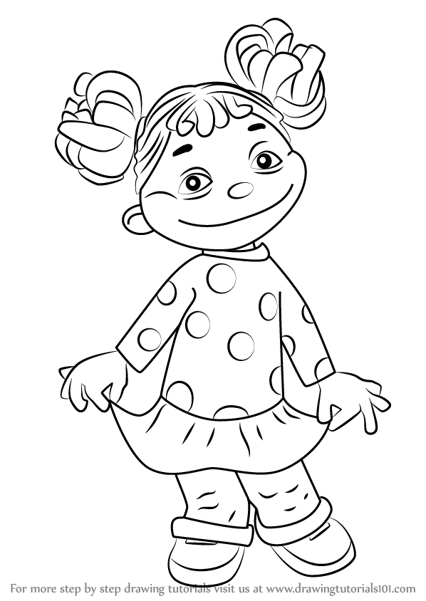 kids drawing pages coloring sheets | Learn How to Draw Gabriela from Sid the Science Kid (Sid ...