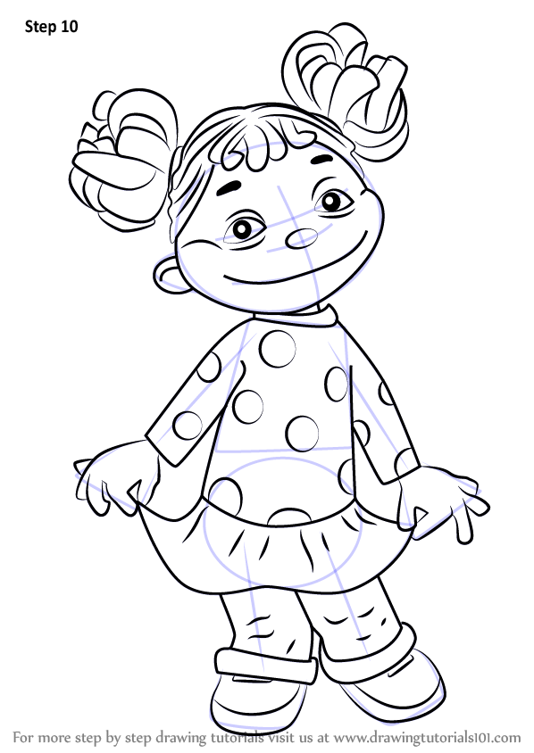 Learn How to Draw Gabriela from Sid the Science Kid Sid the
