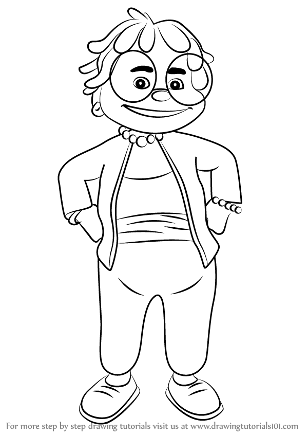 Learn How to Draw Grandma from Sid the Science Kid Sid the