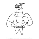 How to Draw Maxum Mel from Sidekick