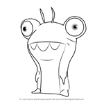 How to Draw Bubbaleone from Slugterra