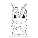 How to Draw Burpy from Slugterra