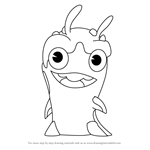 How to Draw Diggrix from Slugterra