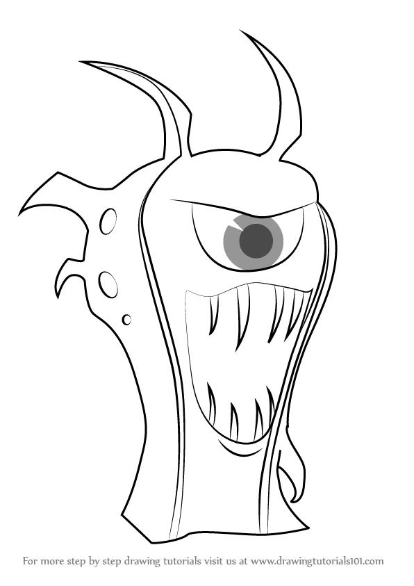 Learn How To Draw Goon Doc From Slugterra Slugterra Step