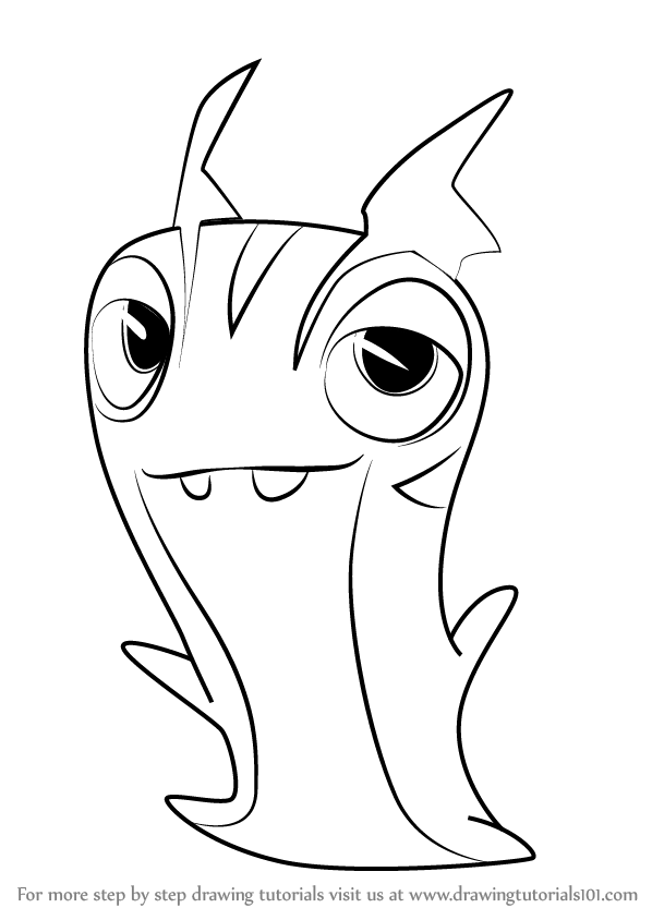 Dragon coloring pages free printable - Learn How To Draw Joules From Slugterra Slugterra Step