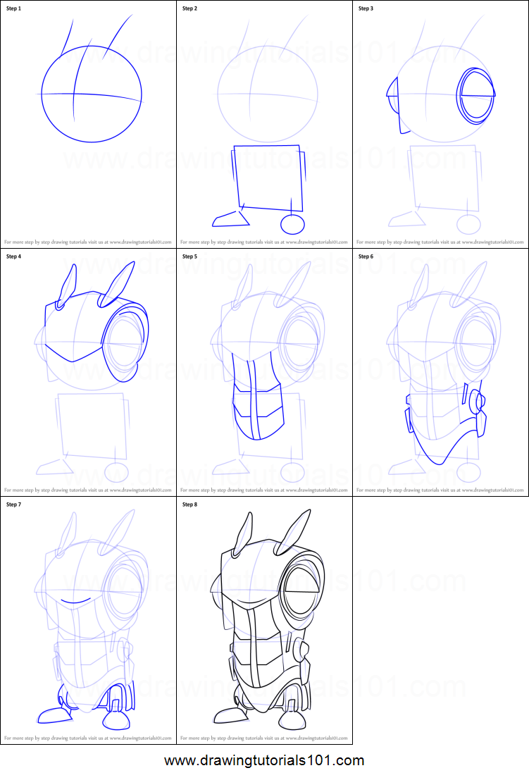how to draw roboslug from slugterra printable step by step drawing