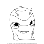 How to Draw Slicksilver from Slugterra