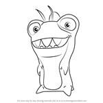 How to Draw Thresher from Slugterra