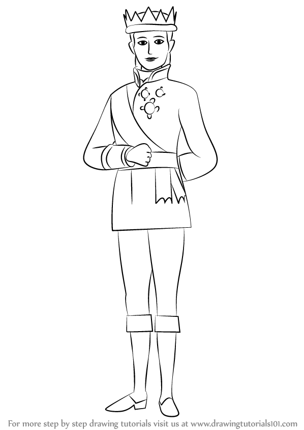 Learn How To Draw King Roland Ii From Sofia The First Sofia The Drawing King