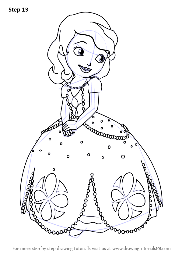 Learn How To Draw Princess Sofia From Sofia The First
