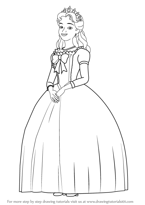 Learn How To Draw Queen Miranda From Sofia The First Sofia The