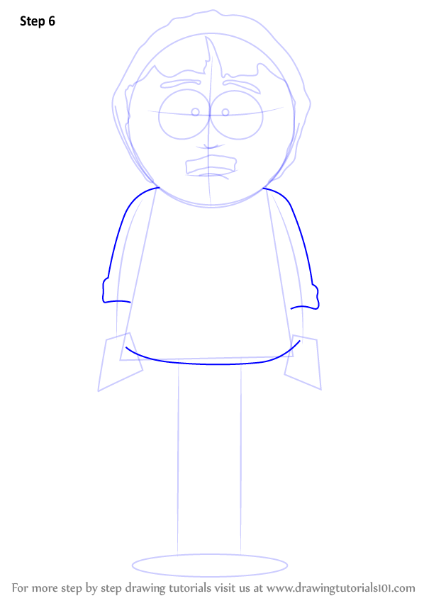 how to draw south park characters cartman