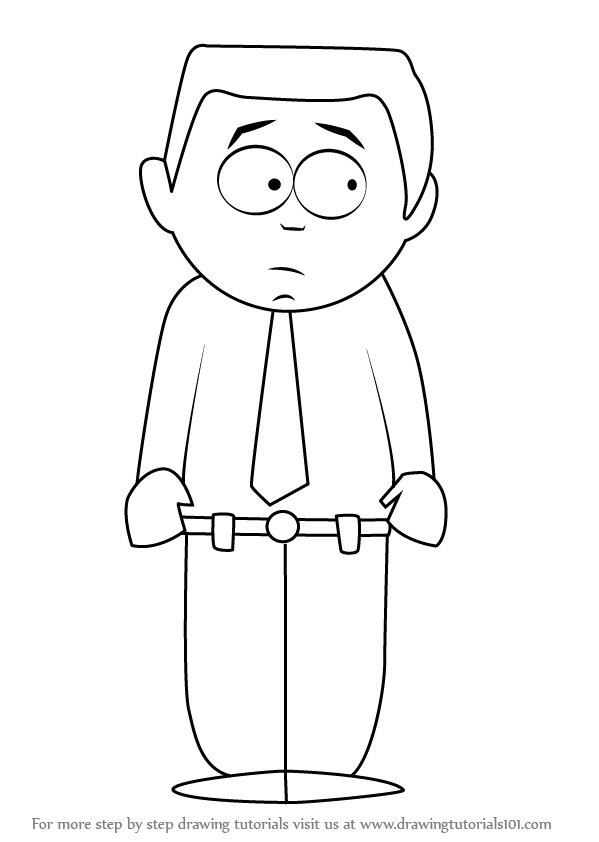 Learn How to Draw Stephen Stotch from South Park (South Park) Step ...