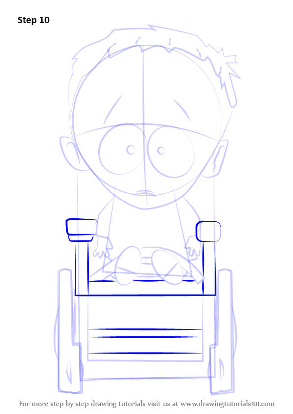Step by Step How to Draw Timmy Burch from South Park ...   596 x 842 png 48kB