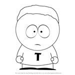 How to Draw Token Black from South Park