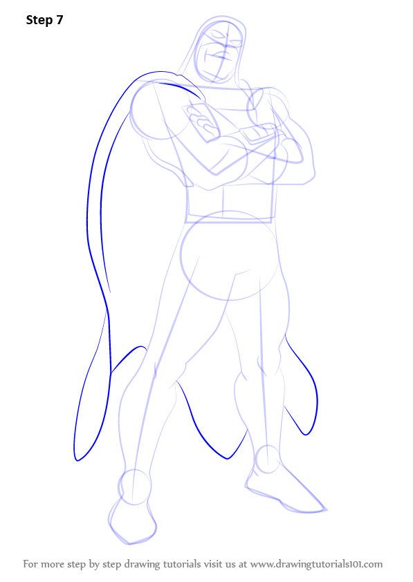 Step by step how to draw space ghost for Space tutorial