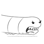 How to Draw Alaskan Bull Worm from SpongeBob SquarePants