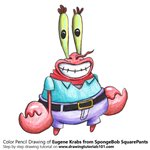 How to Draw Eugene Krabs from SpongeBob SquarePants