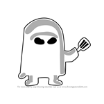How to Draw Hash Slinging Slasher from SpongeBob SquarePants