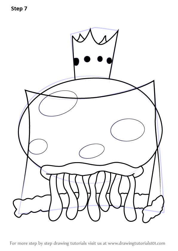 learn how to draw king jellyfish from spongebob