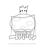 How to Draw King Jellyfish from SpongeBob SquarePants