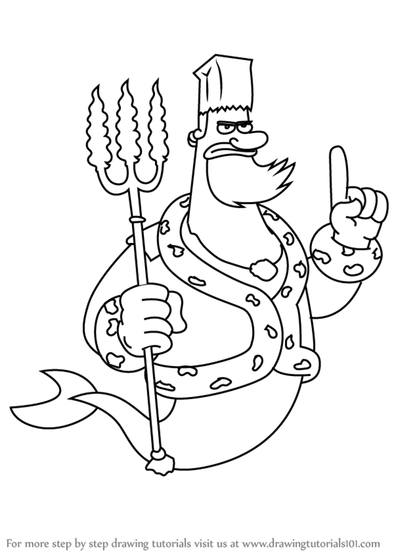 king neptune coloring pages