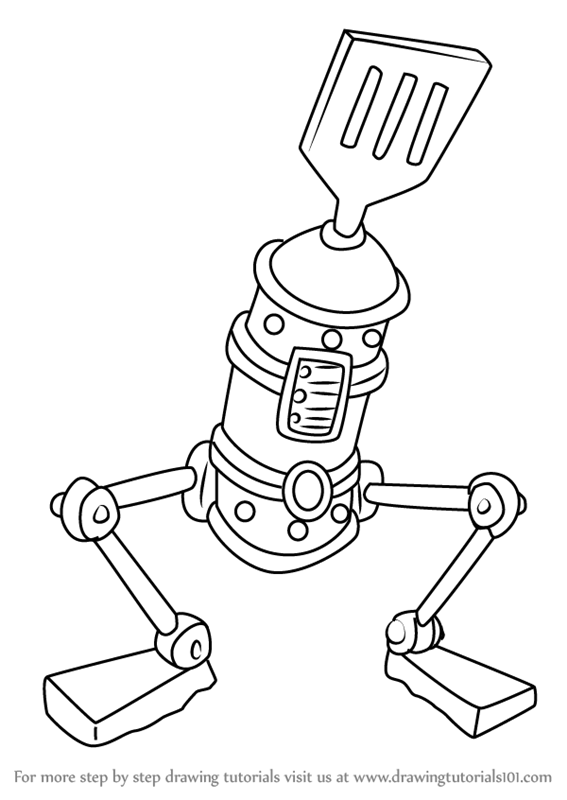 learn how to draw le spatula from spongebob squarepants