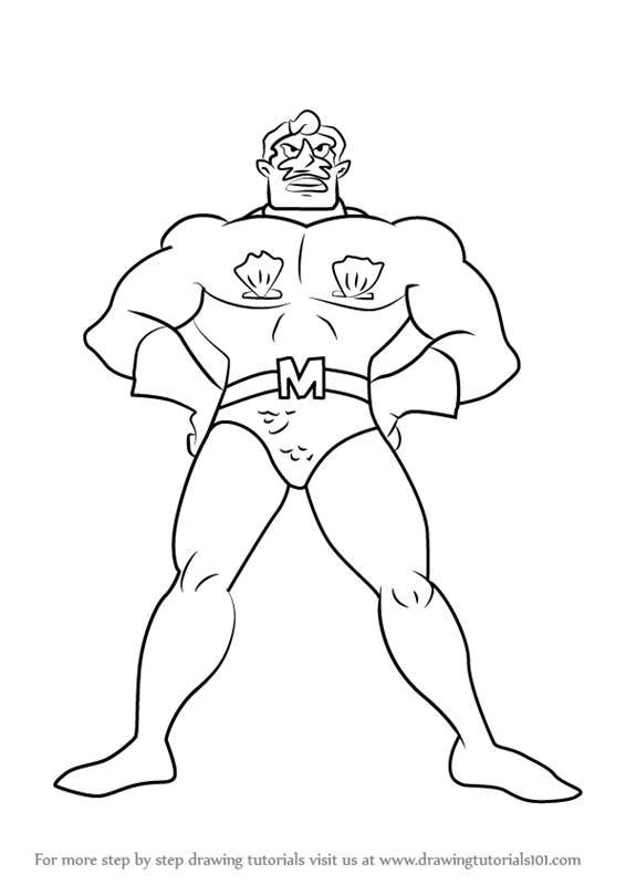 Learn How To Draw Mermaid Man Young From Spongebob