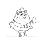 How to Draw Mrs. Puff from SpongeBob SquarePants