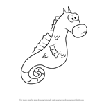 How to Draw Mystery the Seahorse from SpongeBob SquarePants