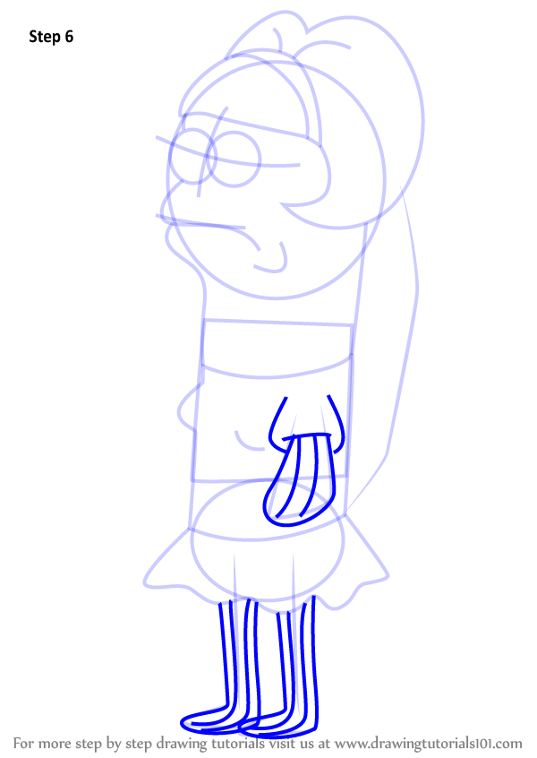 learn how to draw nancy suzy fish from spongebob