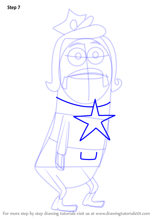 learn how to draw officer nancy from spongebob squarepants