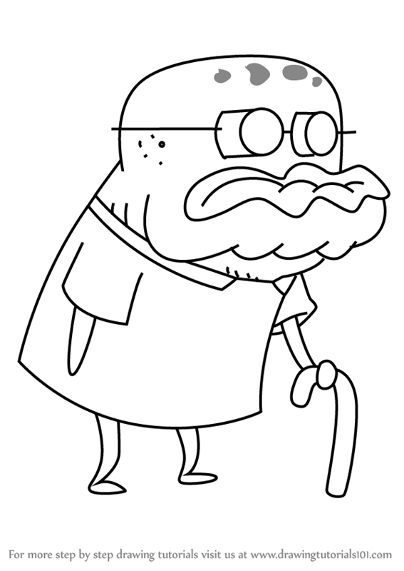 Learn How To Draw Old Man Jenkins From Spongebob Squarepants