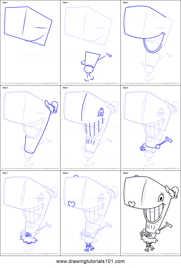 Step By Drawing Tutorial On How To Draw Pearl Krabs From Spongebob Squarepants