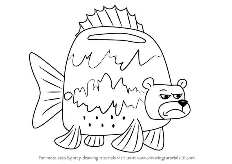 Learn How To Draw Sea Bear From SpongeBob SquarePants